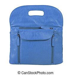 kék, táska, háttér.