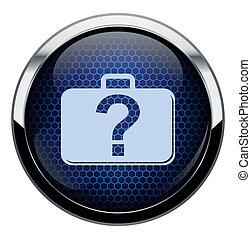 kék, táska, icon., átlyuggatott díszítés