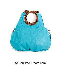 kék, táska, nők