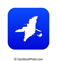 kék, térkép, ikon, florida, digitális