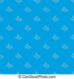 kék, térkép, seamless, motívum