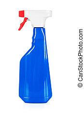 kék, takarítás, palack, műanyag