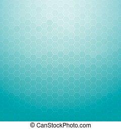 kék, tervezés, elvont, háttér, geometriai, hatszög, technológia