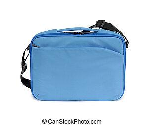kék, textil, laptop, táska
