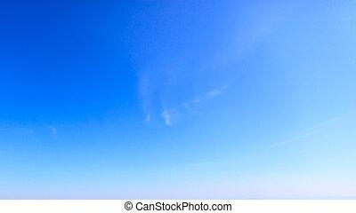 kék, tiszta égbolt, háttér