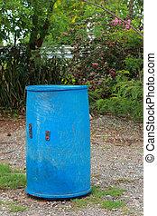 kék, trash.