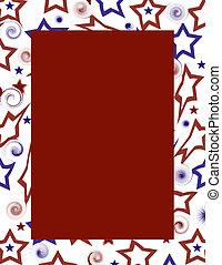 kék, usa, &, fram, white piros