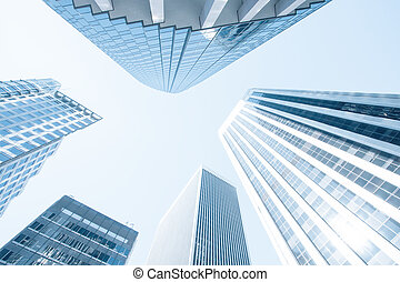 kék, Város, épületek, színezett, hivatal,  modern, Kortárs, kilátás