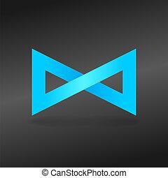 kék, vég nélküli, aláír