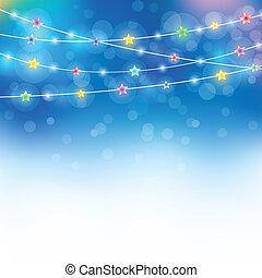 kék, varázslatos, ünnep, háttér
