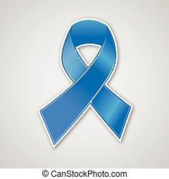 kék, ve, rák, jelkép, mell, szalag