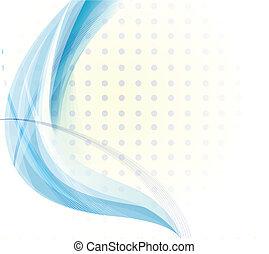kék, vektor, háttér