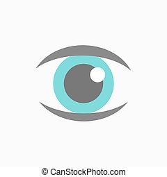 kék, vektor, szem, ikon