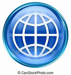 kék, világ, ikon