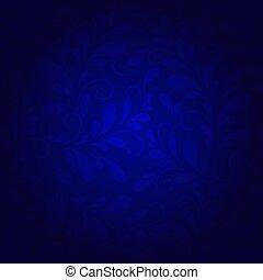kék, virágos, háttér, példa
