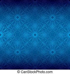 kék, virágos, spirál, háttér