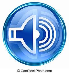 kék, zene, ikon