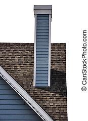 kémény, tető
