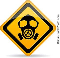 kémiai, veszély, felszólít cégtábla