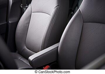 kényelmes, autó leültet
