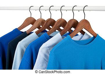 kényelmes, ing, képben látható, hirdetmények, különböző, hangsúly, közül, kék