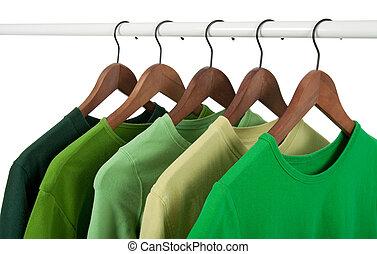 kényelmes, ing, képben látható, hirdetmények, különböző, hangsúly, közül, zöld