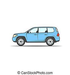 kép, közül, a, autó