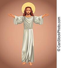 kép, vallásos, krisztus, jézus
