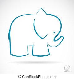kép, vektor, elefánt