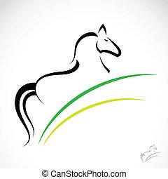 kép, vektor, ló
