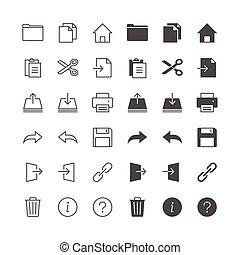 képessé tesz, rendes, ikonok, state., alkalmazás, included, toolbar