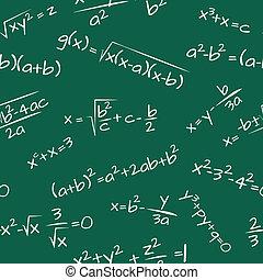 képlet, seamless, matek, motívum