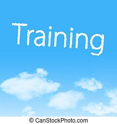 képzés, felhő, ikon, noha, tervezés, képben látható, kék ég, háttér