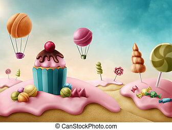 képzelet, candyland