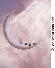 képzelet, hold