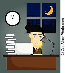 késő, dolgozó