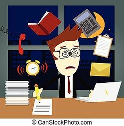 késő, elfoglalt, dolgozó