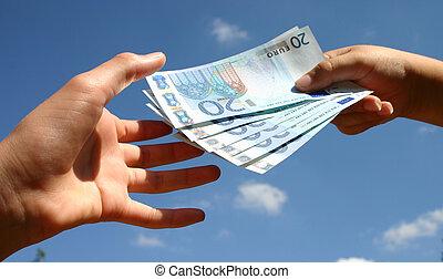 készpénz, lebonyolítás