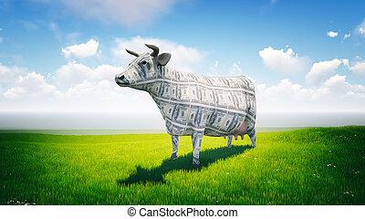 készpénz tehén