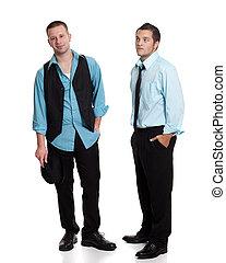 két, fiatal férfiak
