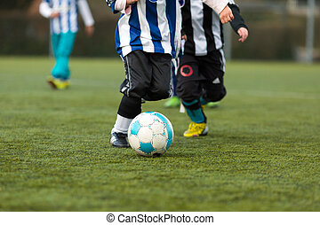 két, fiatal, futball játékos