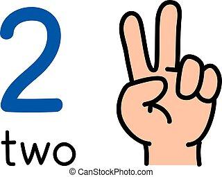 két, kiállítás, 2, kéz, heccel, cégtábla., szám