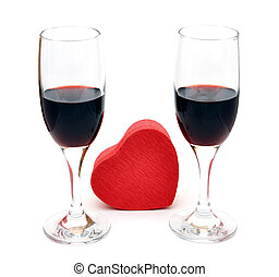 két, pohár piros bor