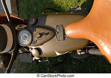 két, rész, motorkerékpár, világ, hadi, háború