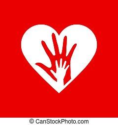 két, szív, kézbesít