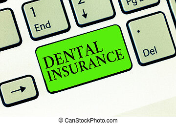 kézírás, szöveg, írás, fogászati, insurance., fogalom, jelentés, forma, közül, egészség, tervezett, to kiegyenlít, porció, vagy, tele, közül, kiadások
