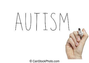 kéz, autism, írás