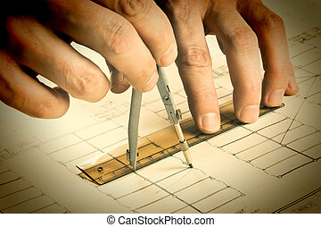 kéz, csalogat, egy, ceruza, képben látható, rajz