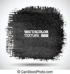 kéz, húzott, vízfestmény, grunge, háttér.