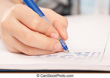 kéz, névtelen, szembogár, lecke, írás